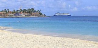 Aruba Resort on the Caribbean Sea. Royalty Free Stock Images