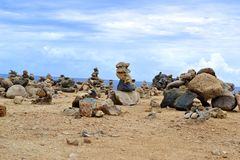 Aruba Rocks. Stacked rock formations in Aruba royalty free stock images