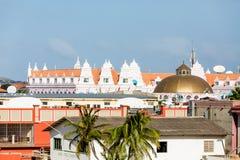Aruba Rooftops of Resorts Royalty Free Stock Photos