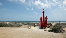 ARUBA:Ships Anchor Memorial To Seamen. Aruba is a small Caribbean Island in the Netherland Antilles. Here is Anchor Memorial to Seamen Royalty Free Stock Photos
