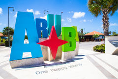 Aruba Sign. Aruba tourism colorful welcome sign Royalty Free Stock Photography