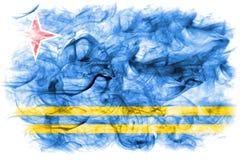 Aruba smoke flag, Netherlands dependent territory flag.  Stock Images