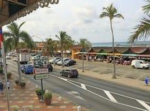 Aruba Souvenir Shops. Souvenir shops in town of Oranjestad, Capital of Aruba Stock Photo