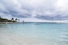 Aruba, spiaggia caraibica, FlamingoBeach di Aruba Fotografia Stock Libera da Diritti