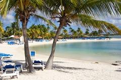 Aruba strand Arkivfoton