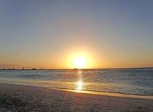 Aruba strand Royaltyfri Foto