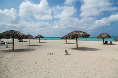 Aruba strand i vinter Arkivbilder