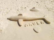 Aruba strandsand Royaltyfri Foto