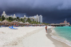Aruba: Strorm approaching Royalty Free Stock Photo