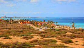 Aruba sur la mer des Caraïbes Photo libre de droits