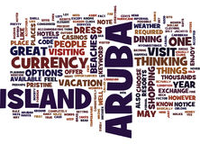 Aruba Word Cloud Concept Royalty Free Stock Images