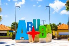 Aruba-Zeichen Lizenzfreies Stockfoto