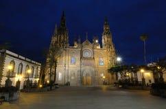 arucas νύχτα καθεδρικών ναών Στοκ Εικόνες