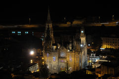 Arucas Cathedral at night Royalty Free Stock Images