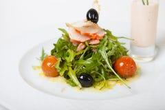 Arugula και srimps σαλάτα Στοκ Εικόνα
