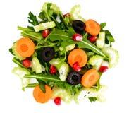 Arugula, καρότο, ελιά και σέλινο που απομονώνονται στο άσπρο υπόβαθρο Στοκ εικόνες με δικαίωμα ελεύθερης χρήσης