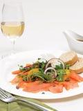 Arugula σολομών καπνού και πορτοκαλιά σαλάτα Στοκ φωτογραφία με δικαίωμα ελεύθερης χρήσης