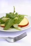 Arugula apple pecorino cheese salad. Arugula, Red apple, and Pecorino Cheese salad Stock Photos