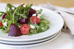 Arugula Beet Salad Royalty Free Stock Images