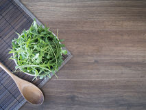 Arugula in a bowl Royalty Free Stock Photo