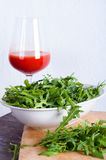 Arugula in bowl. Royalty Free Stock Photo