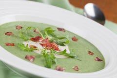 Arugula cream soup Royalty Free Stock Photos