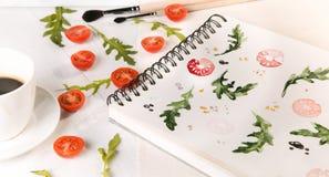 Arugula d'american national standard de tomates-cerises Photos libres de droits