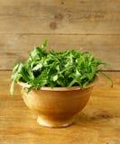Arugula fresco de la ensalada verde Imagen de archivo libre de regalías