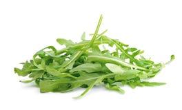 Arugula.Fresh arugula leaves isolated on white background. Stock Images