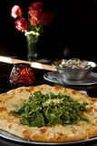 Arugula pizza Royalty Free Stock Photography