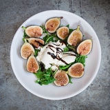 Arugula Salad with Figs and Burrata Royalty Free Stock Image