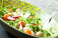 Arugula Salad with Tomatoes and Radish Royalty Free Stock Photography