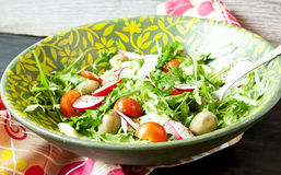Arugula Salad with Tomatoes and Radish Royalty Free Stock Images