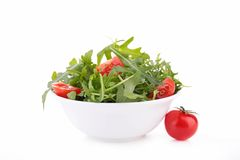Arugula and tomato Stock Photo
