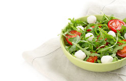Arugula tomatoes and mozzarella Royalty Free Stock Photo