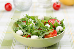 Arugula tomatoes and mozzarella Stock Photography