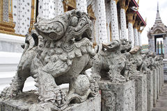 arun πέτρα Ταϊλάνδη λιονταριών της Μπανγκόκ wat Στοκ φωτογραφίες με δικαίωμα ελεύθερης χρήσης
