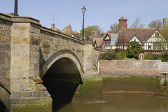 arun arundel γεφυρώστε την Αγγλία πέ& Στοκ Εικόνες