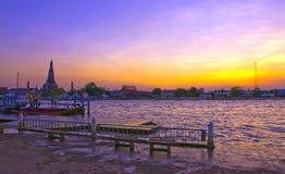 arun Bangkok rozwala Thailand wat obrazy stock