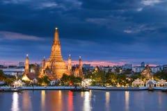 arun Bangkok rozwala Thailand wat Obrazy Royalty Free