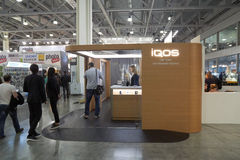 Iqos company booth Stock Image