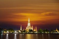 Arun de Wat no por do sol Foto de Stock