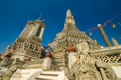 Arun temple. Is the 1in9 landmark temple of bangkok Royalty Free Stock Image