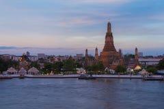 Arun temple at Chao phraya river river front Royalty Free Stock Photos