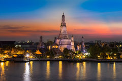 Arun temple after sunset Stock Image