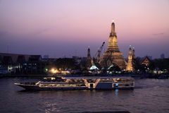 Arun temple,thailand. Twilight view of Wat Arun,thailand Royalty Free Stock Photography