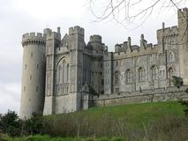 Arundel castle. During the Winter royalty free stock photos