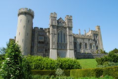Arundel Castle. Facade at Arundel Castle, England from gardens Royalty Free Stock Images