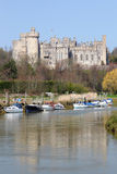 Arundel Castle, England. Arundel castle in West Sussex is situated on a hill overlooking the River Arun Stock Photos