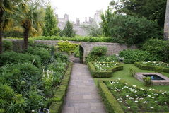 Arundel castle garden in England Royalty Free Stock Photography